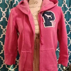 ❤Victoria's Secret Pink 3/4 sleeve zipper hoodie